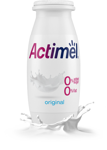 Actimel Original  Cultured Yogurt Shot with 0% Fat, 0% Added sugar