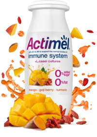 Actimel Supermix Cultured Yogurt Shot - Mango Goji Berry Turmeric