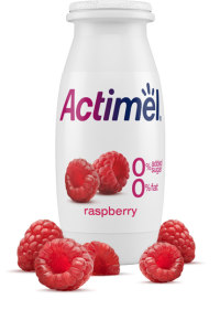 Actimel Raspberry Cultured Yogurt Shot with 0% Fat, 0% Added sugar