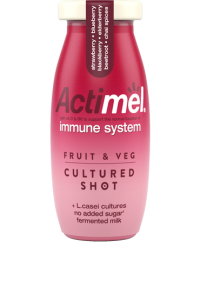 Actimel Fruit & Veg Cultured Yogurt Shot Red
