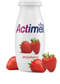 Actimel Strawberry Cultured Yogurt Shot
